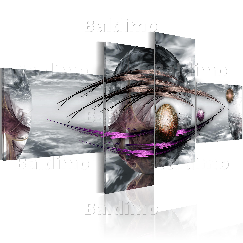 wandbilder xxl abstrakt grau leinwand bilder 4 teilig wohnzimmer 020101 35 ebay. Black Bedroom Furniture Sets. Home Design Ideas