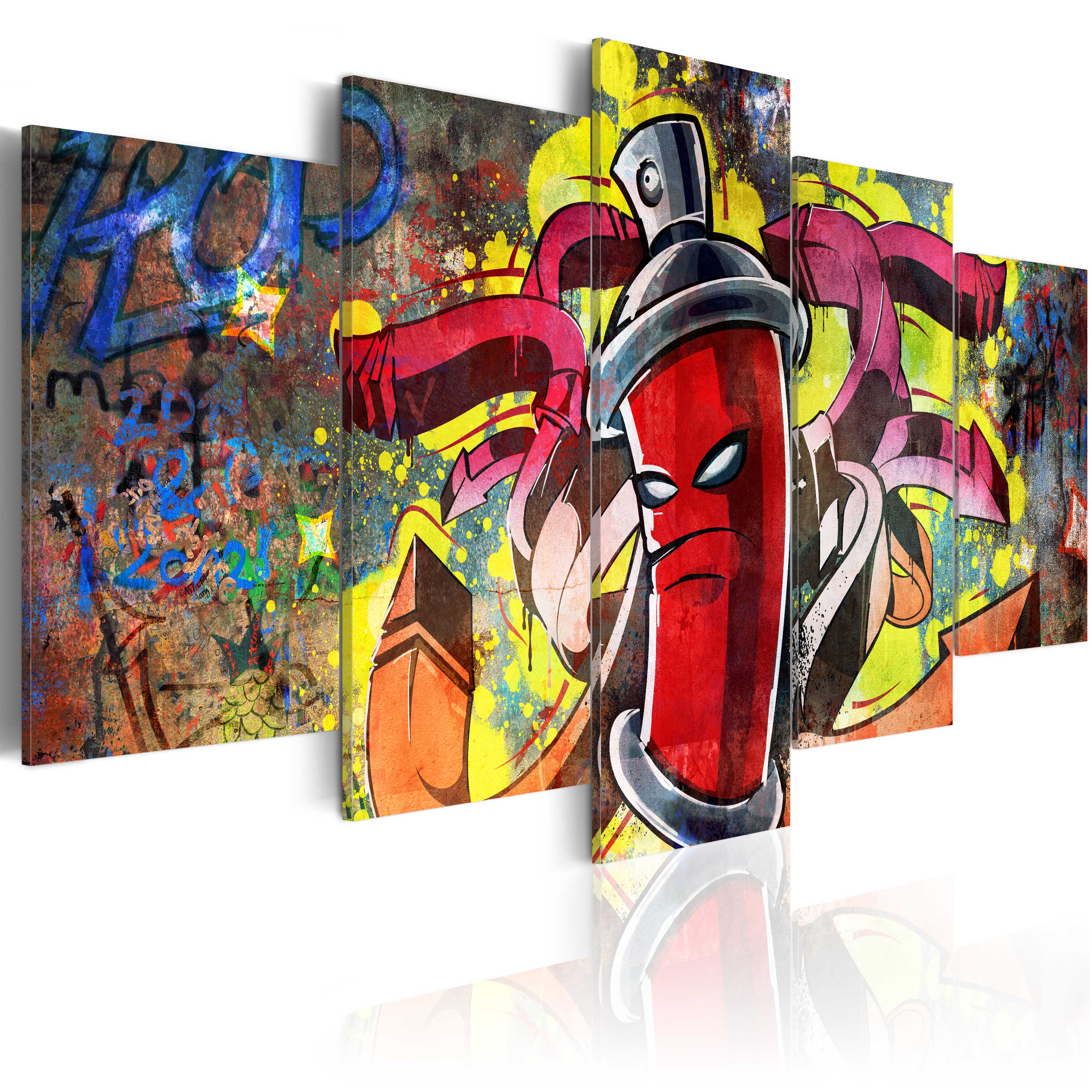 leinwand bilder xxl kunstdruck wandbild graffiti mural. Black Bedroom Furniture Sets. Home Design Ideas