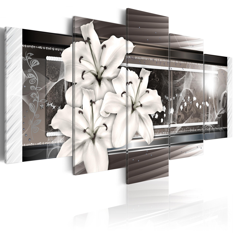 leinwand bilder xxl kunstdruck wandbild blumen lilien abstrakt 020110 122 ebay. Black Bedroom Furniture Sets. Home Design Ideas