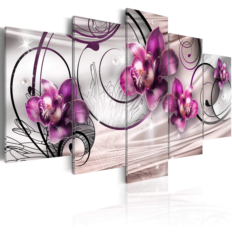 leinwand bilder xxl fertig aufgespannt bild blumen abstrakt 020110 146 ebay. Black Bedroom Furniture Sets. Home Design Ideas