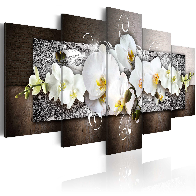 leinwand bilder xxl kunstdruck wandbild blumen orchidee abstrakt 020110 157 ebay. Black Bedroom Furniture Sets. Home Design Ideas
