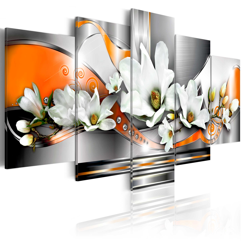 leinwand bilder xxl fertig aufgespannt bild blumen abstrakt 020110 163 ebay. Black Bedroom Furniture Sets. Home Design Ideas