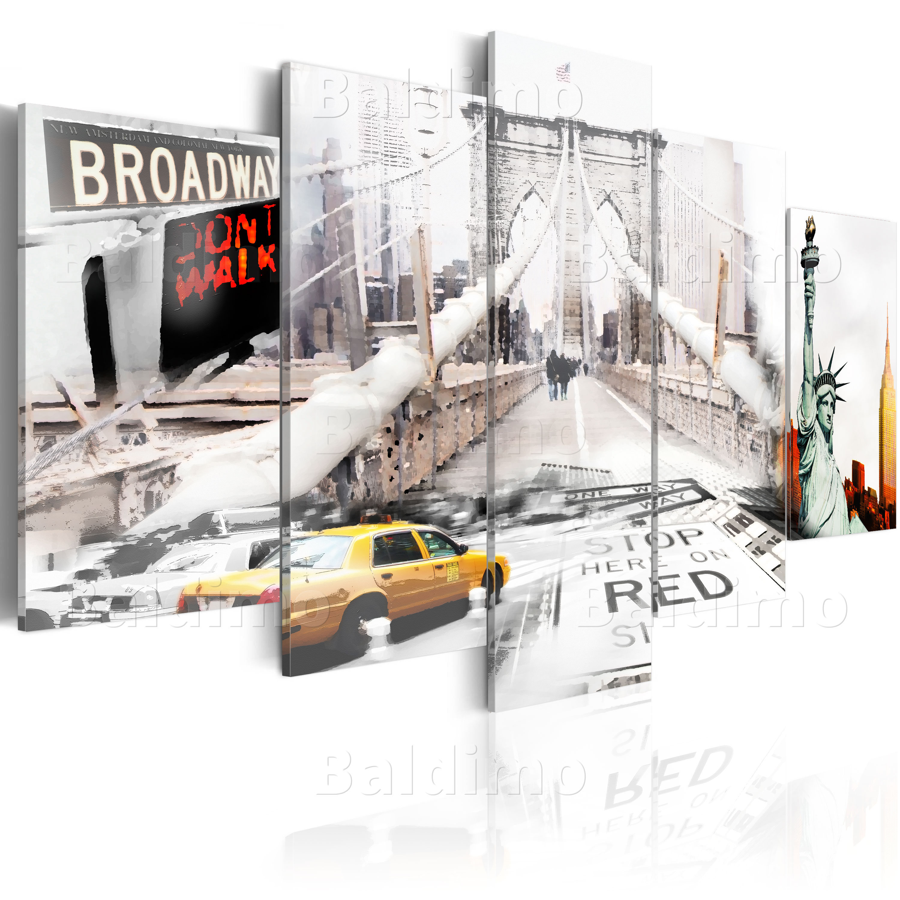 leinwand bilder xxl fertig aufgespannt bild new york brooklyn bridge 020111 22 ebay. Black Bedroom Furniture Sets. Home Design Ideas