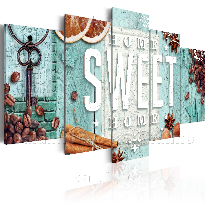 leinwand bilder xxl fertig aufgespannt bild home sweet home 020115 84 ebay. Black Bedroom Furniture Sets. Home Design Ideas