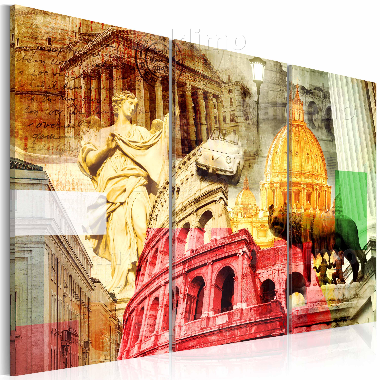 WANDBILDER XXL ROM ITALIEN LEINWAND BILDER 120x80 60x40 WOHNZIMMER ...
