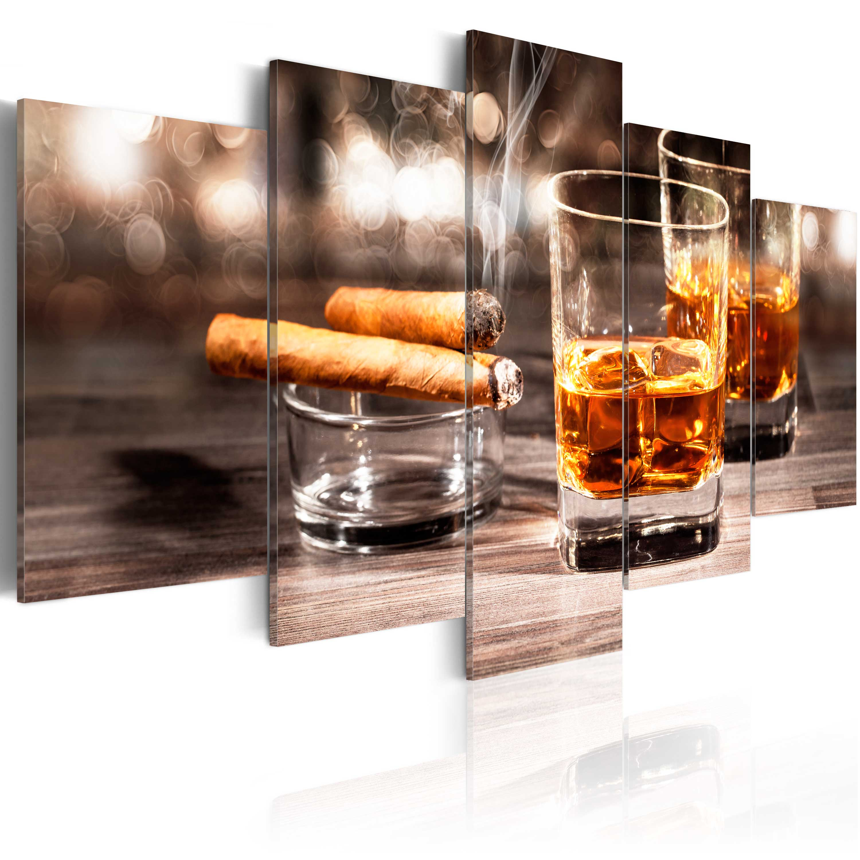 wandbilder xxl whisky zigarre leinwand bilder kunstdruck 200x100cm 030106 13 ebay. Black Bedroom Furniture Sets. Home Design Ideas
