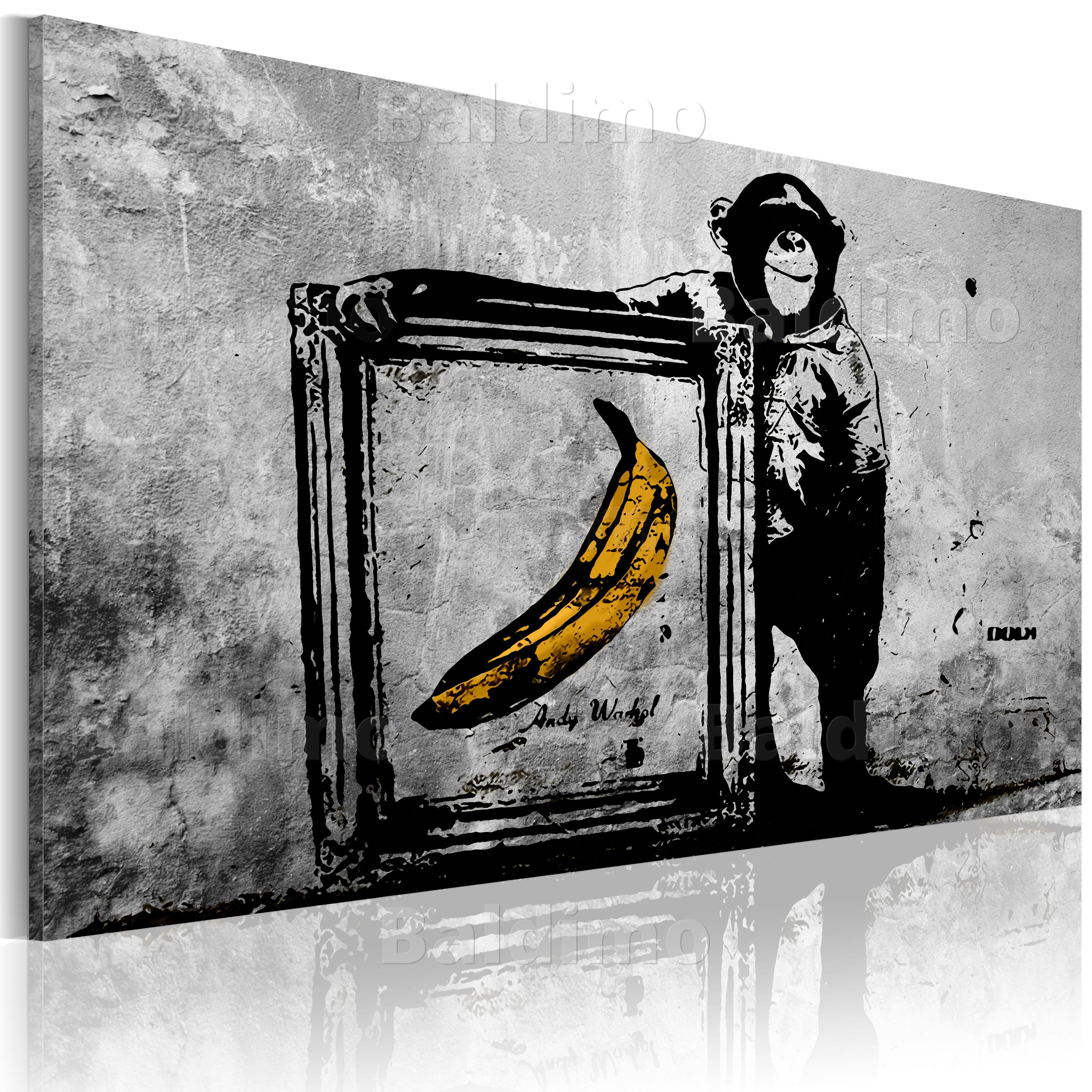leinwand bilder xxl fertig aufgespannt bild banksy. Black Bedroom Furniture Sets. Home Design Ideas