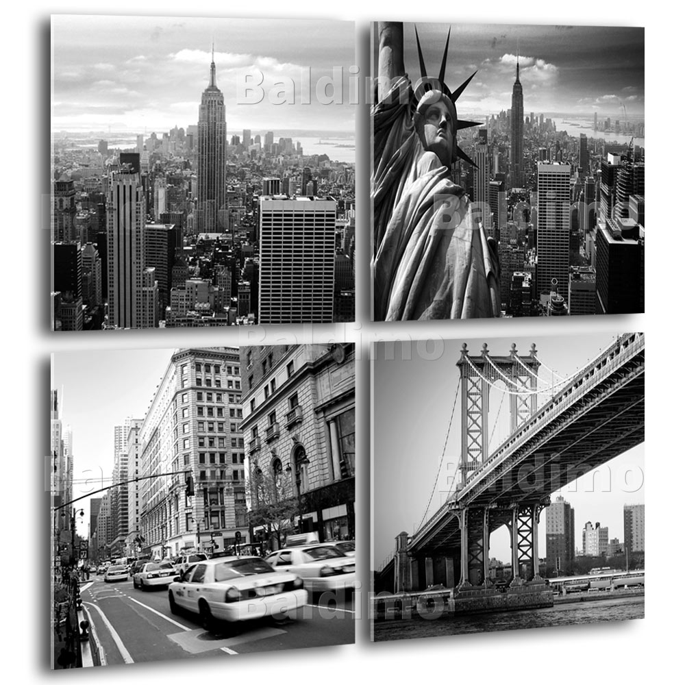 new york deko bild leinwand bilder kunstdruck new york. Black Bedroom Furniture Sets. Home Design Ideas