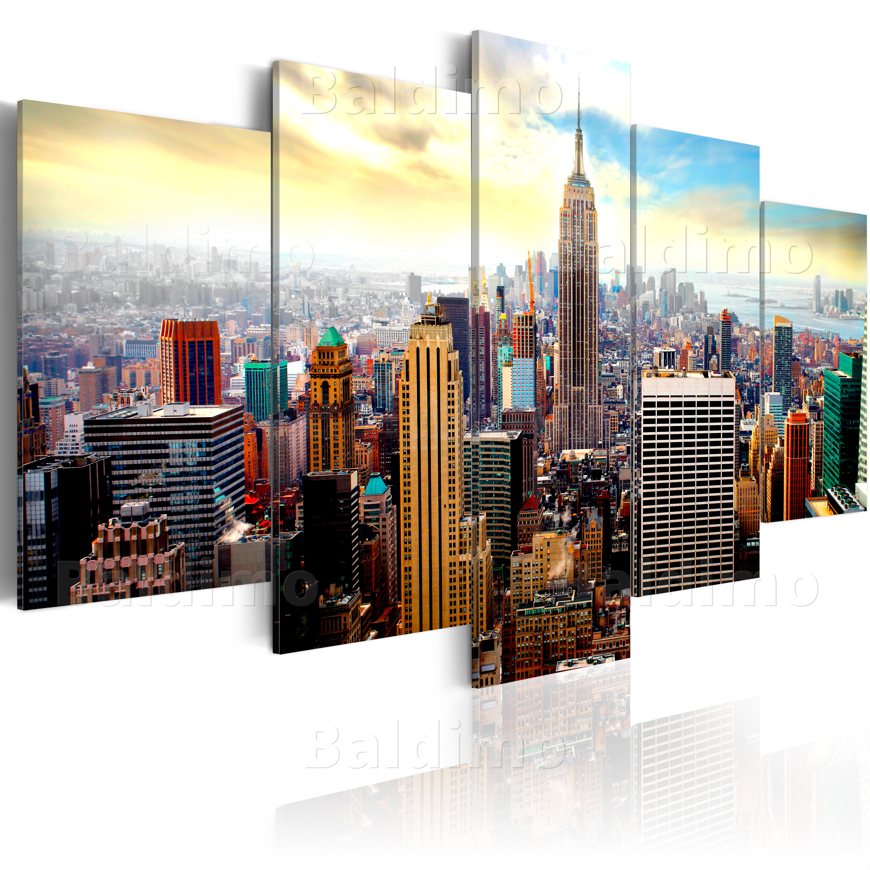 leinwand bilder xxl fertig aufgespannt bild new york city 030211 62 ebay. Black Bedroom Furniture Sets. Home Design Ideas