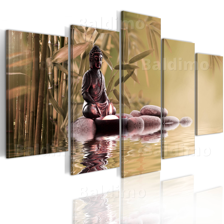 top vlies leinwand bilder xxl kunstdruck bild wandbild buddha 030213 28 ebay. Black Bedroom Furniture Sets. Home Design Ideas