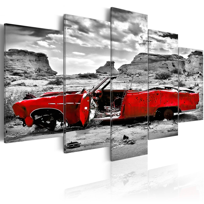 wandbilder auto retro leinwand bilder xxl w ste kunstdruck vintage grau 051379 ebay. Black Bedroom Furniture Sets. Home Design Ideas