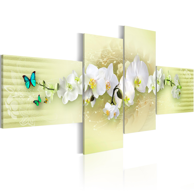 Cuadros tripticos flores cuadros en decoracion para el - Cuadros decoracion hogar ...