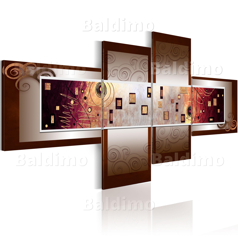 wandbilder xxl abstrakt braun leinwand bilder 4 teilig wohnzimmer 051480 ebay. Black Bedroom Furniture Sets. Home Design Ideas