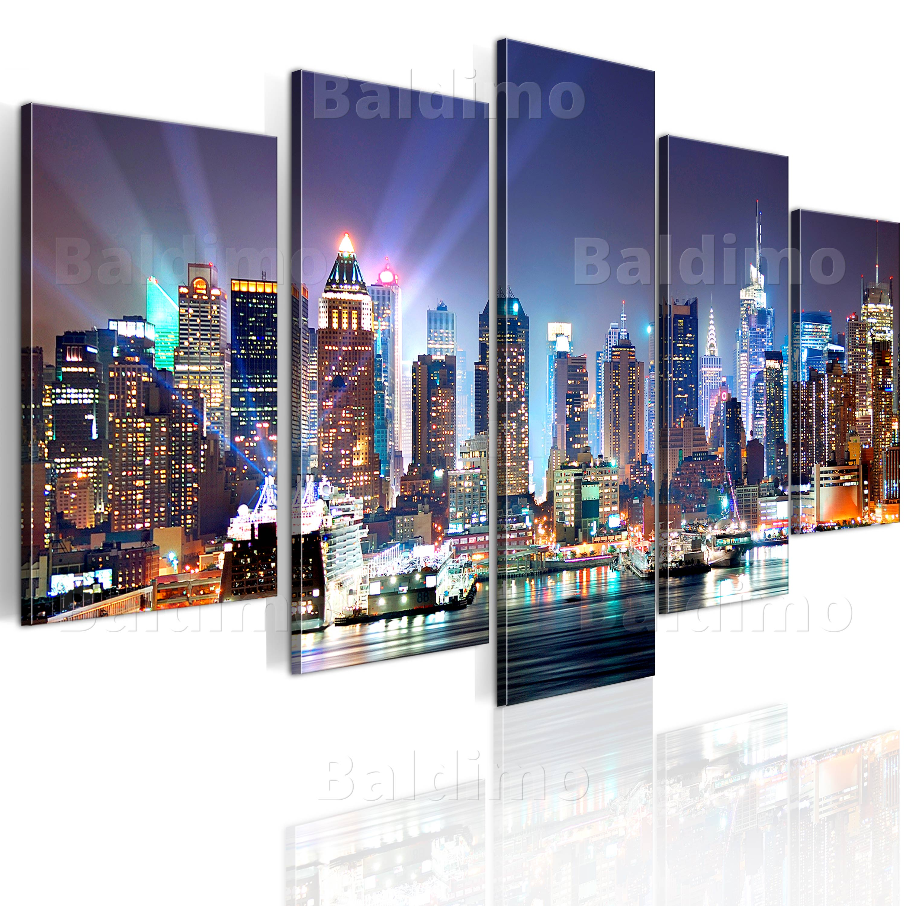 leinwand bilder xxl kunstdruck wandbild new york nyc skyline stadt 9020099 ebay. Black Bedroom Furniture Sets. Home Design Ideas