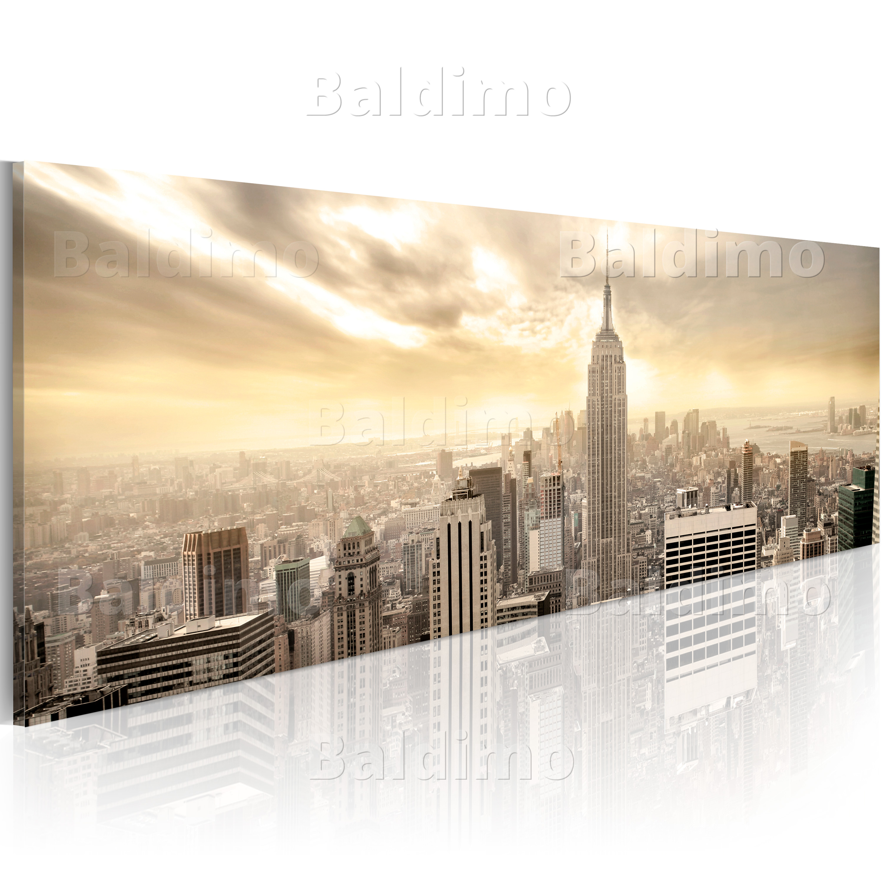 wandbilder xxl new york skyline leinwand bilder kunstdruck wohnzimmer 9020114 ebay. Black Bedroom Furniture Sets. Home Design Ideas