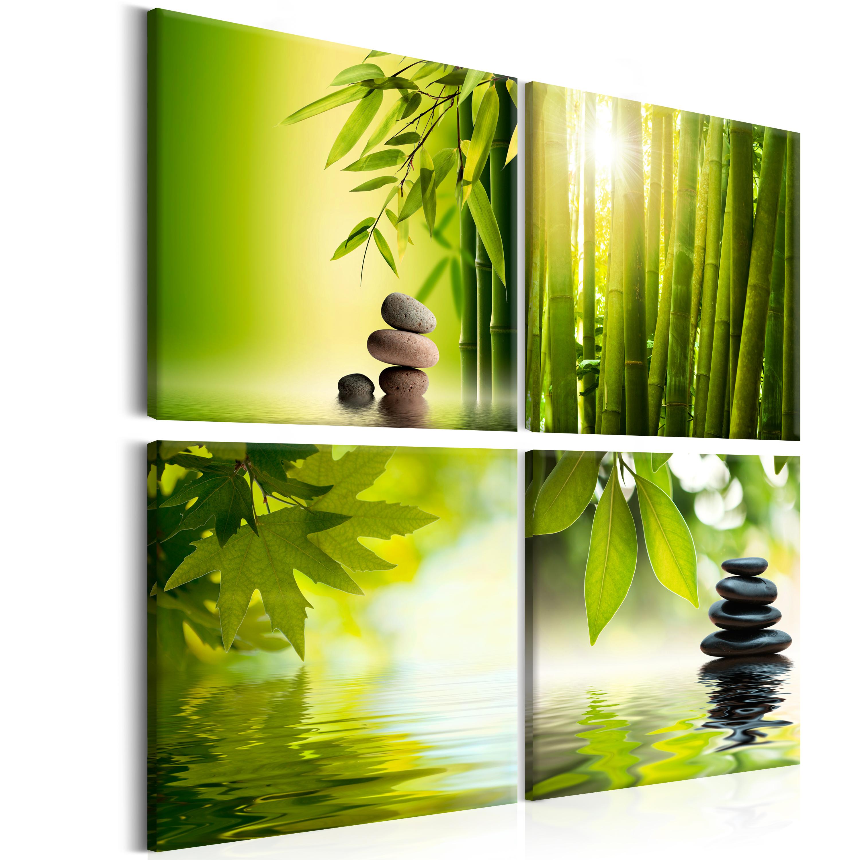 Wandbilder natur  Leinwand Bilder xxl Kunstdruck Wandbilder Natur Strand SPA Küche ...