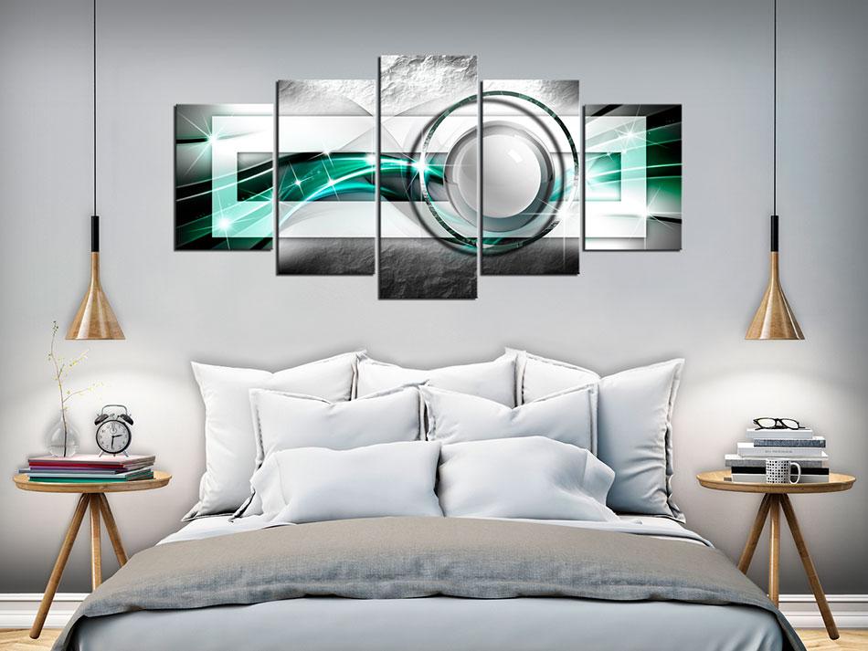 ABSTRAKT KUGEL GLANZ MODERN Wandbilder xxl Bilder Vlies Leinwand a-A-0189-b-n