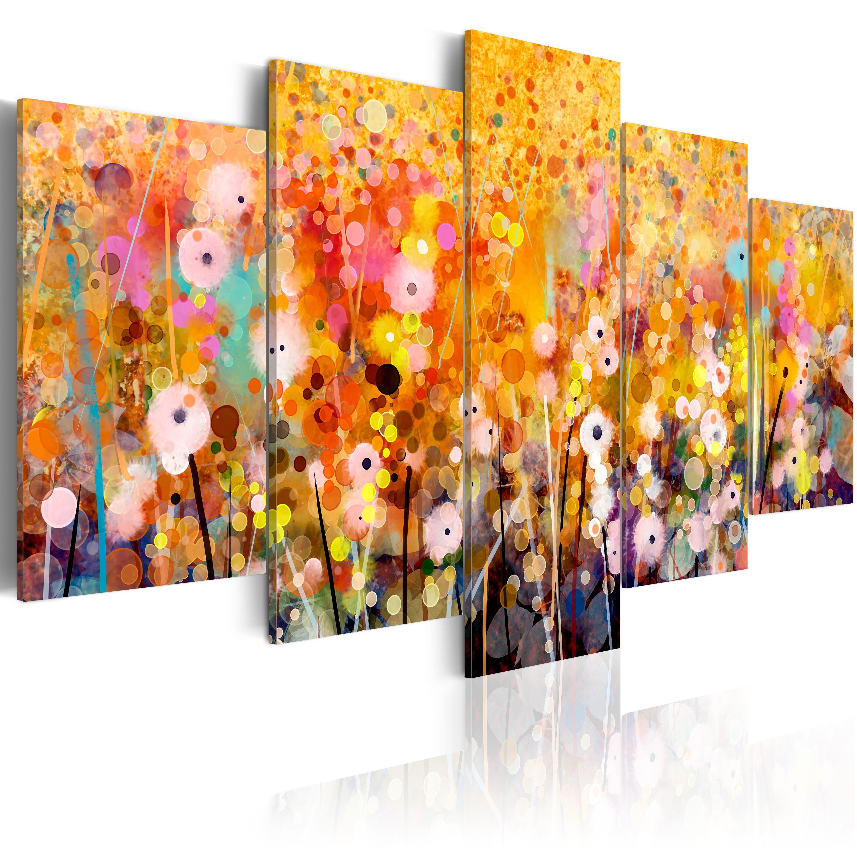 Leinwandbilder Modern leinwand bilder kunstdruck bild abstrakt bunt modern blumen