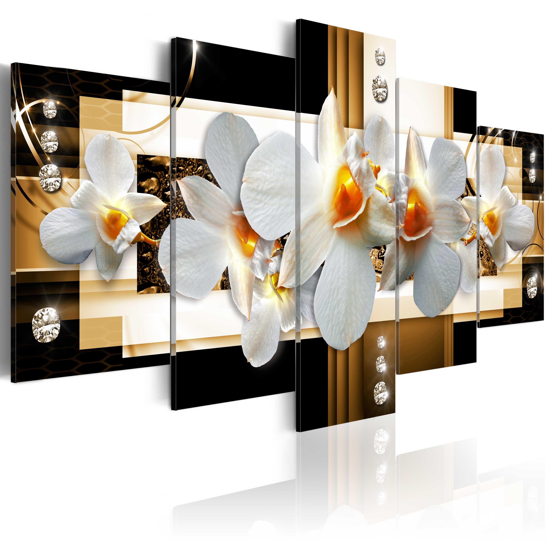 leinwand bilder xxl fertig aufgespannt bild abstrakt orchidee b a 0099 b n ebay. Black Bedroom Furniture Sets. Home Design Ideas