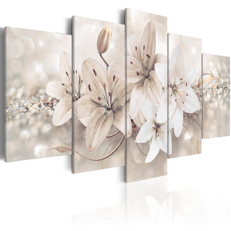 Leinwand bilder xxl kunstdruck wandbild abstrakt blumen lilien b a 0297 b n ebay - Quadri per il bagno ...