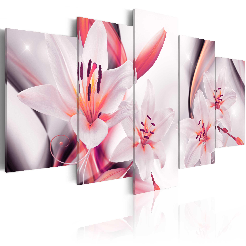 leinwand bilder xxl kunstdruck wandbild wohnzimmer blumen lilien b c 0009 b n ebay. Black Bedroom Furniture Sets. Home Design Ideas