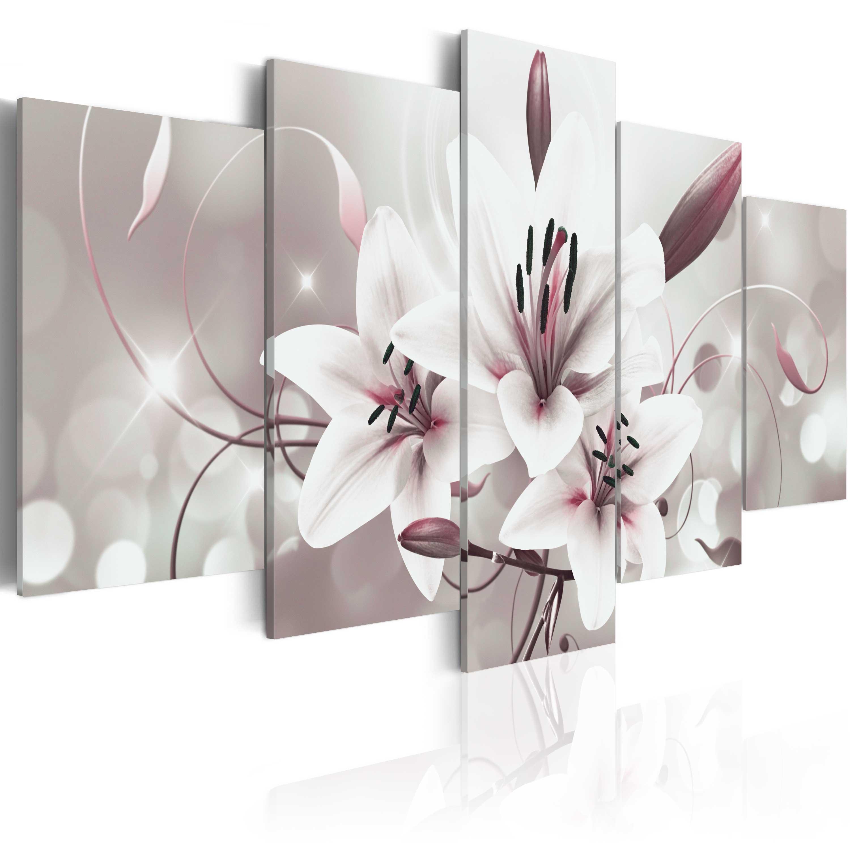 wandbilder xxl blumen lilien abstrakt leinwand bilder wohnzimmer b c 0041 b n ebay. Black Bedroom Furniture Sets. Home Design Ideas