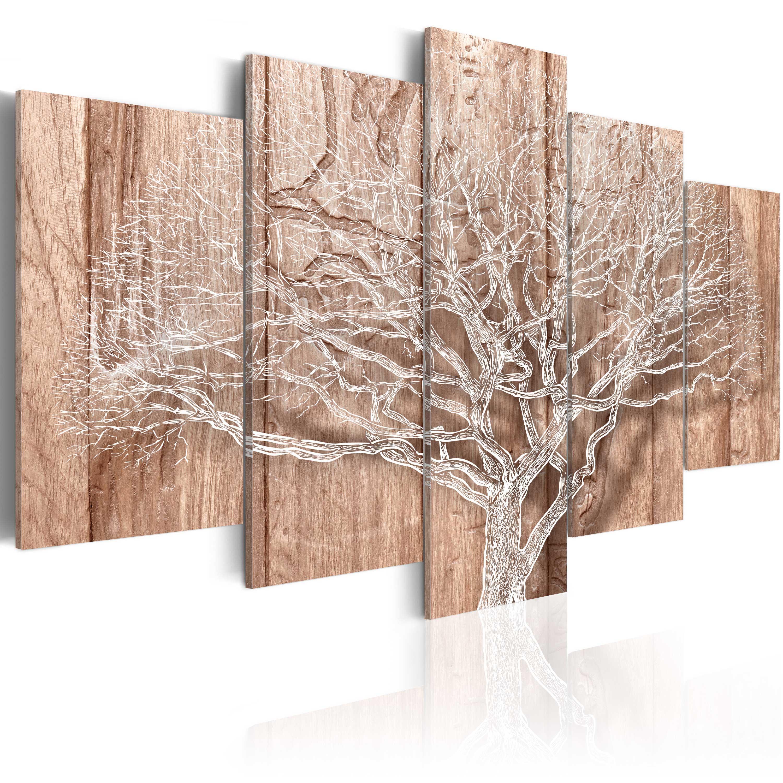 leinwand bilder xxl fertig aufgespannt bild baum holz bretter b c 0046 b n ebay. Black Bedroom Furniture Sets. Home Design Ideas