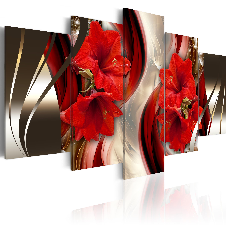 leinwand bilder xxl fertig aufgespannt bild blumen abstrakt b c 0063 b n. Black Bedroom Furniture Sets. Home Design Ideas