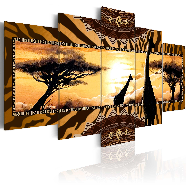 leinwand bilder xxl kunstdruck wandbild afrika savanne ethno c a 0035 b m ebay. Black Bedroom Furniture Sets. Home Design Ideas
