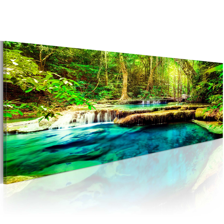 leinwand bilder xxl fertig aufgespannt bild wasserfall natur c b 0044 b b ebay. Black Bedroom Furniture Sets. Home Design Ideas