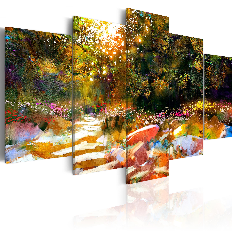 leinwand bilder xxl kunstdruck dbild abstrakt wie gemalt natur c b 0092 b m ebay. Black Bedroom Furniture Sets. Home Design Ideas
