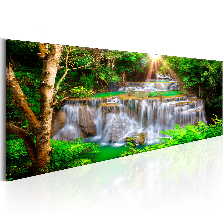 leinwand bilder xxl fertig aufgespannt bild wasserfall natur c c 0017 b b ebay. Black Bedroom Furniture Sets. Home Design Ideas
