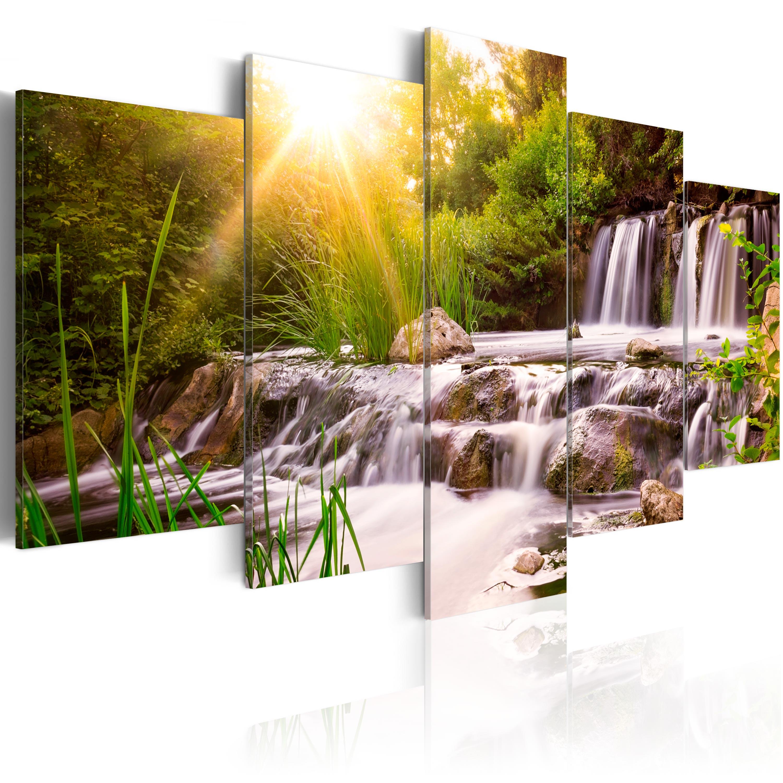wandbilder xxl landschaft ausblick natur leinwand bilder. Black Bedroom Furniture Sets. Home Design Ideas
