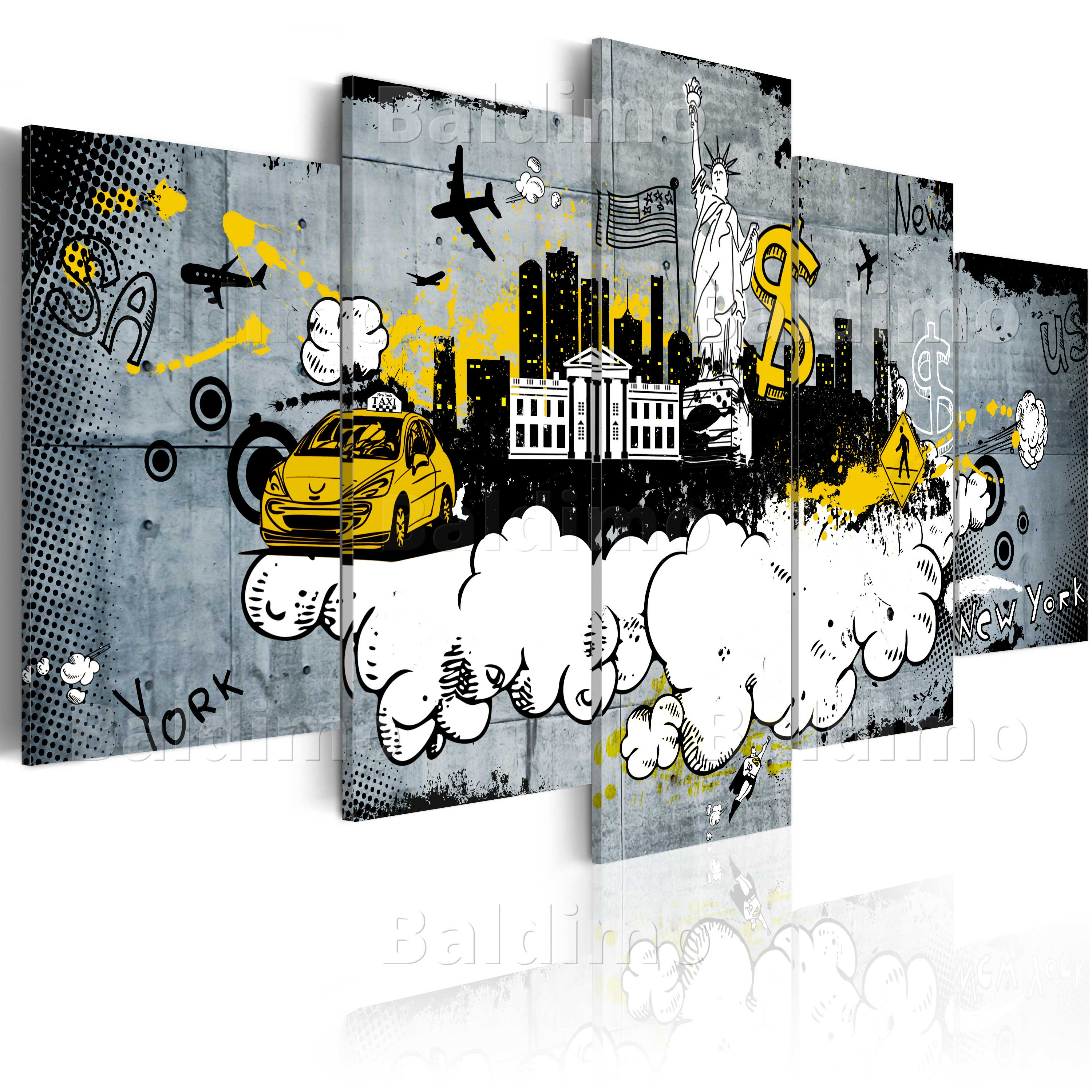 LARGE CANVAS WALL ART PRINT + IMAGE + PICTURE + PHOTO NYC GRAFFITI d-A-0007-b-o