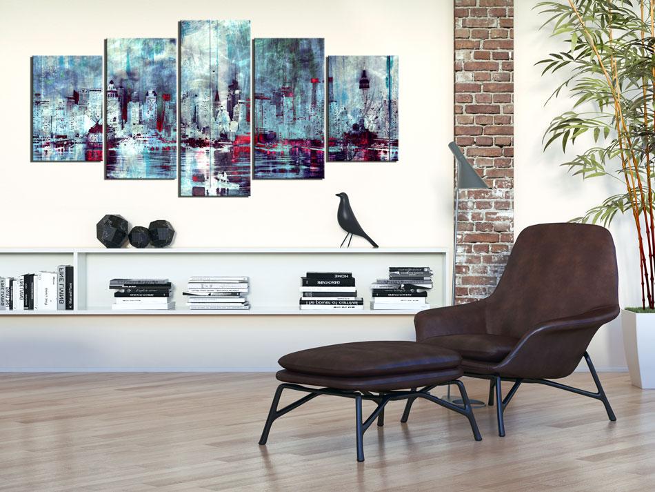 ABSTRAKT NEW YORK STADT Wandbilder xxl Bilder Vlies Leinwand d-A-0046-b-n