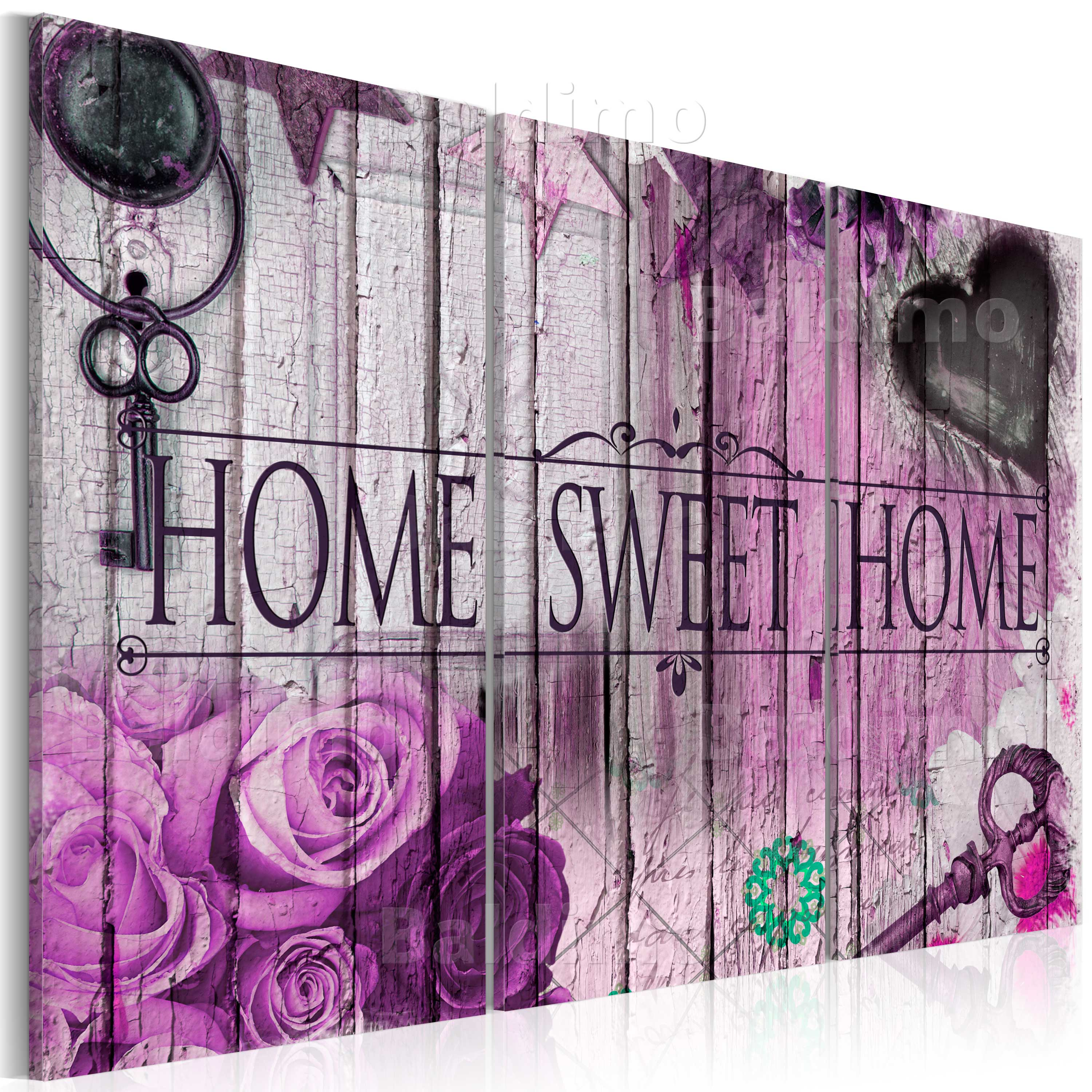LARGE CANVAS WALL ART PRINT + IMAGE + PICTURE + PHOTO SWEET HOME f-A-0055-b-g