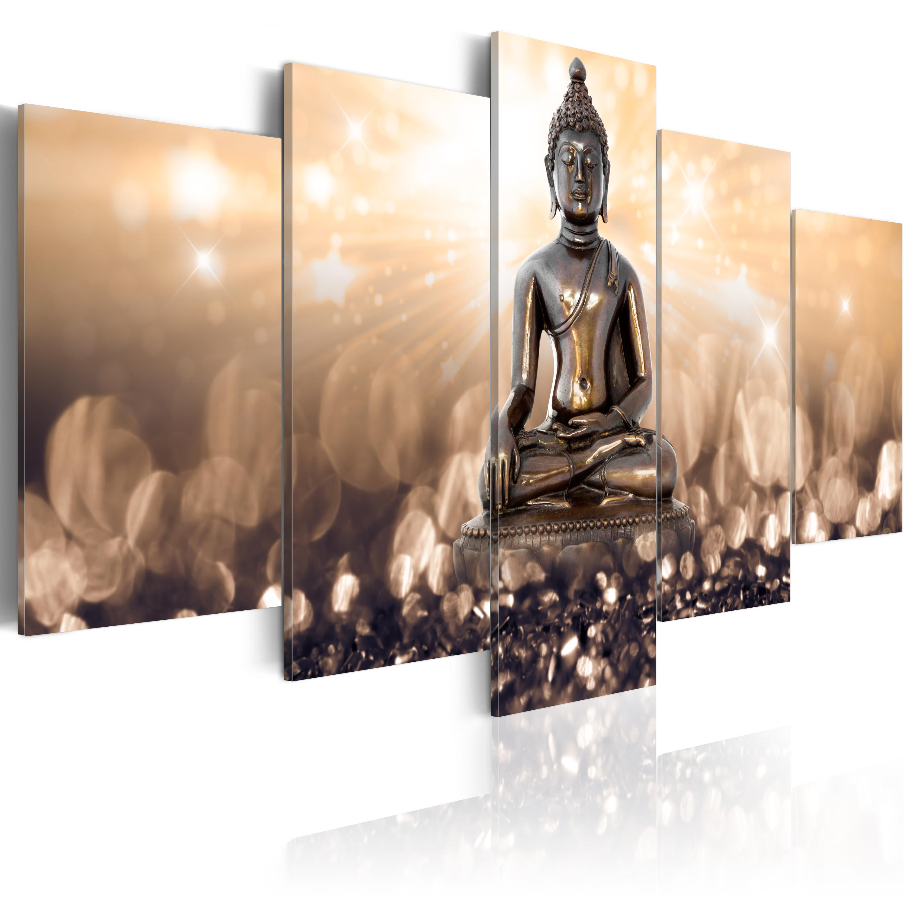 leinwand bilder xxl fertig aufgespannt bild buddha h c 0012 b n. Black Bedroom Furniture Sets. Home Design Ideas