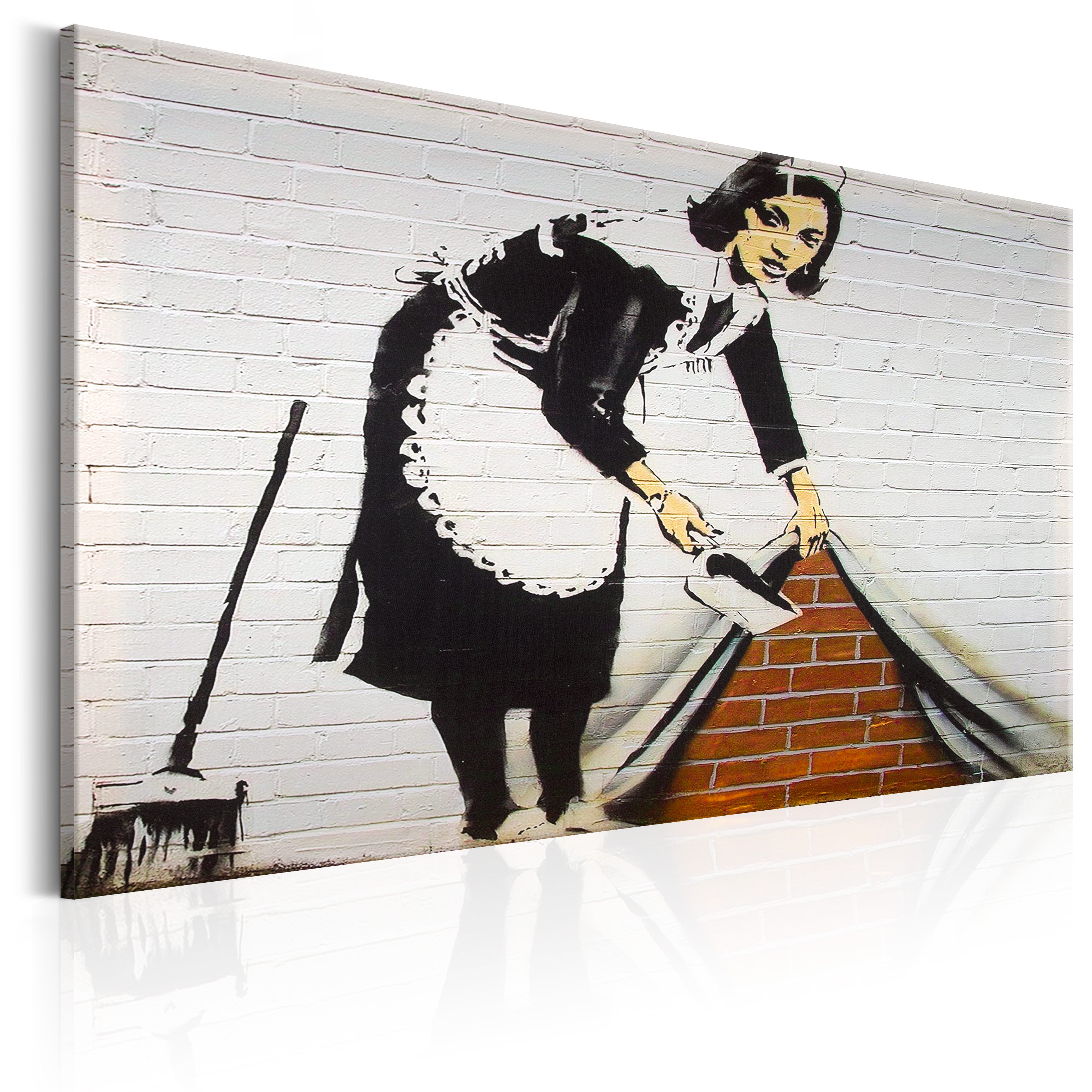 leinwand bilder xxl fertig aufgespannt bild banksy street art i c 0021 b a ebay. Black Bedroom Furniture Sets. Home Design Ideas
