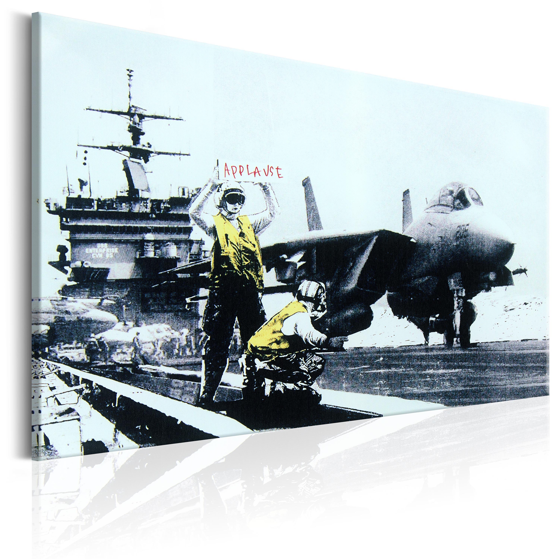 leinwand bilder xxl kunstdruck banksy streetart i c. Black Bedroom Furniture Sets. Home Design Ideas