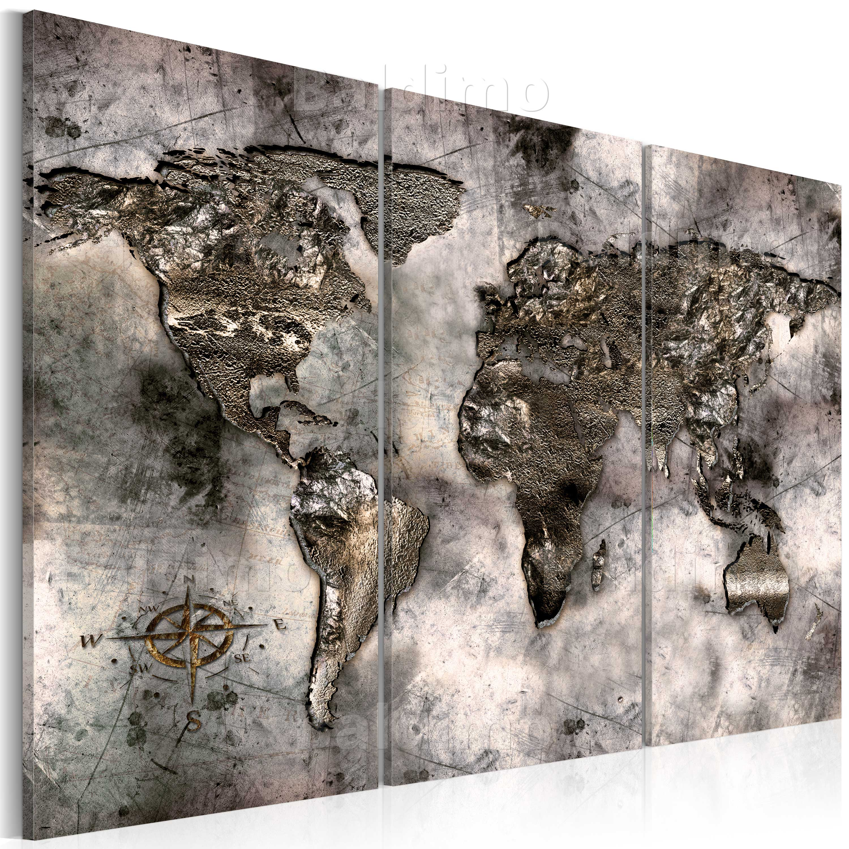 leinwand bilder xxl fertig aufgespannt bild weltkarte k a 0003 b f ebay. Black Bedroom Furniture Sets. Home Design Ideas