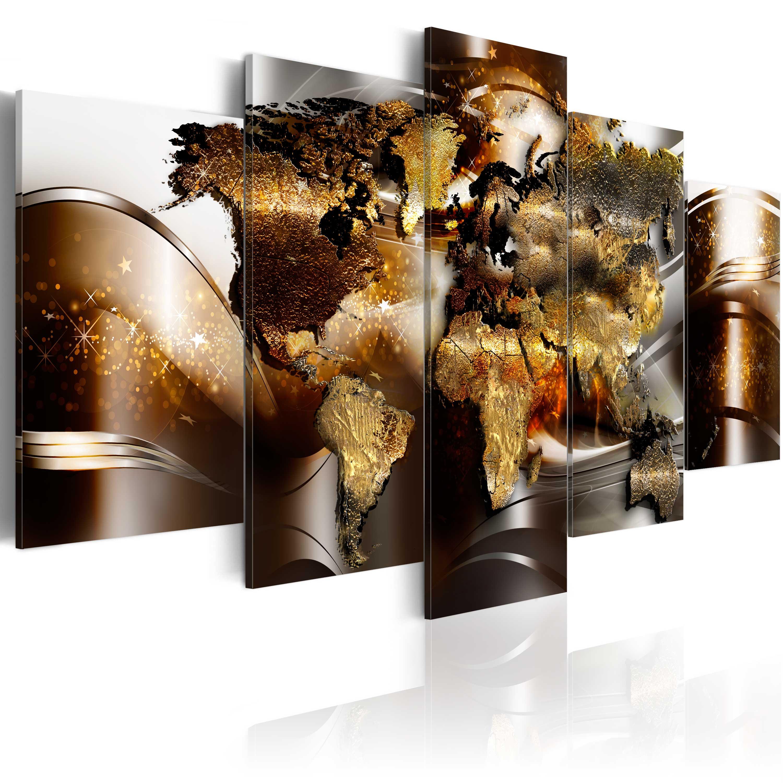 Wandbilder xxl weltkarte reise abstrakt leinwand bilder for Leinwand wohnzimmer