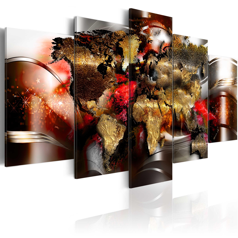 wandbilder xxl weltkarte reise abstrakt leinwand bilder wohnzimmer k a 0017 b n ebay. Black Bedroom Furniture Sets. Home Design Ideas