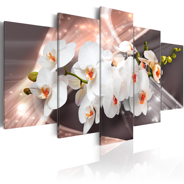 Leinwand bilder xxxl kunstdruck wandbild blumen orchidee for Bilder xxxl