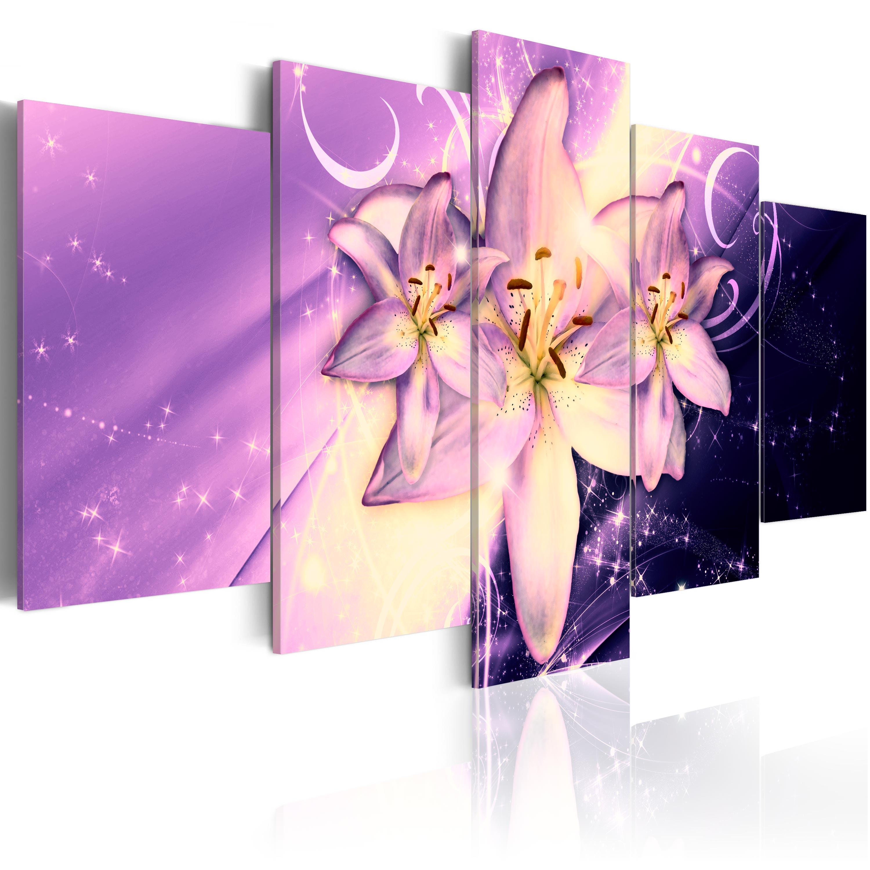 Leinwand bilder xxxl kunstdruck wandbild blumen lilien for Bilder xxxl