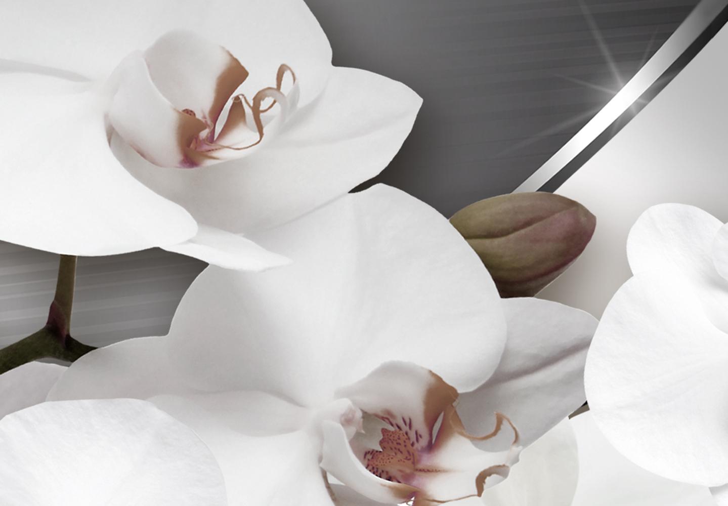 Wandbilder xxl Blumen Orchidee abstraktes Leinwand Bild Wohnzimmer b-C-0195-b-n