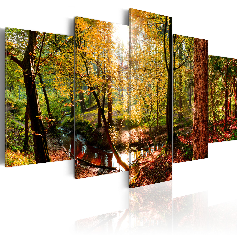 Leinwand bilder xxxl kunstdruck wandbild wald natur for Bilder xxxl