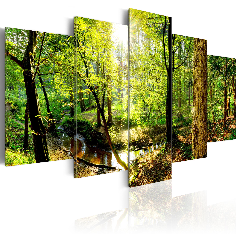 leinwand bilder xxxl kunstdruck wandbild wald natur landschaft c b 0231 b n ebay. Black Bedroom Furniture Sets. Home Design Ideas