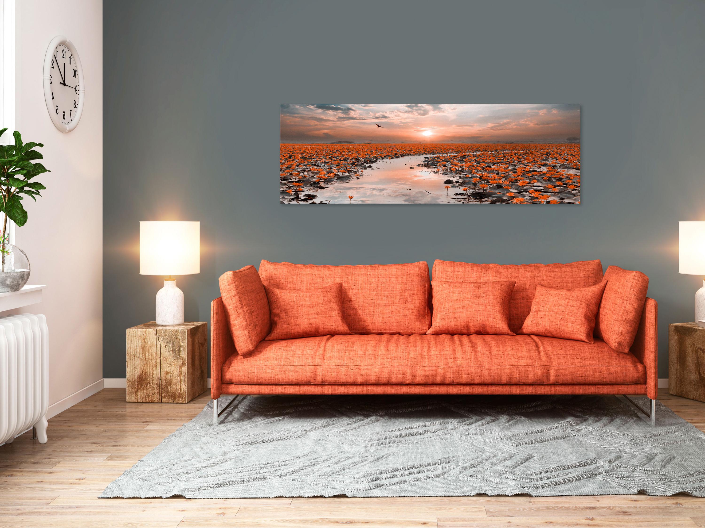 Wandbilder xxl Wasserlilie Seerose Natur Leinwand Bild Wohnzimmer c-B-0332-b-b