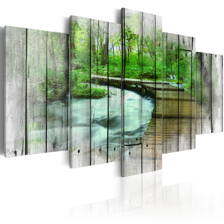 Leinwand bilder xxxl kunstdruck wandbild natur holz for Bilder xxxl