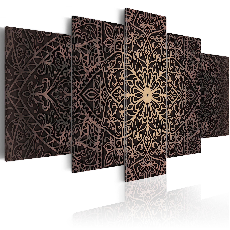 leinwand bilder xxl kunstdruck bild mandala orient ornament f c 0132 b n ebay. Black Bedroom Furniture Sets. Home Design Ideas